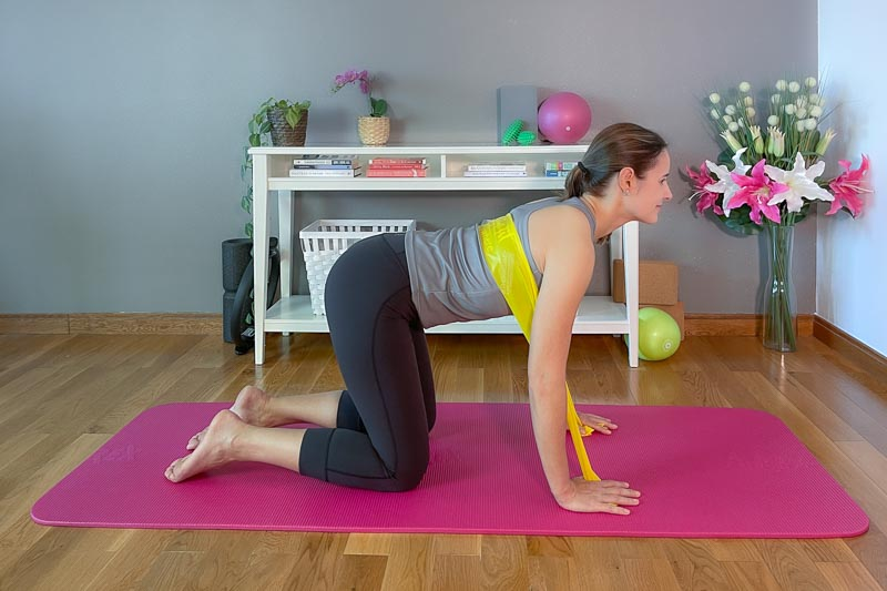 Theraband Pilates: Kuhposition